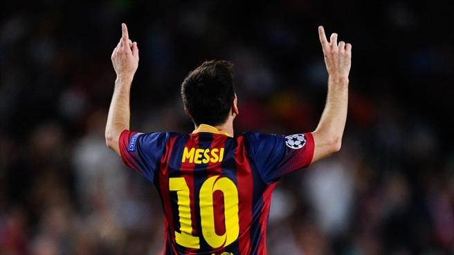 Messi comemora seu primeiro dos três gols sobre o Ajax. (Foto: Getty Images)