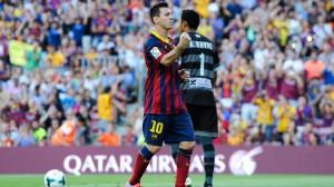 Mesi foi destaque da partida diante do Levante. (Foto: AFP)