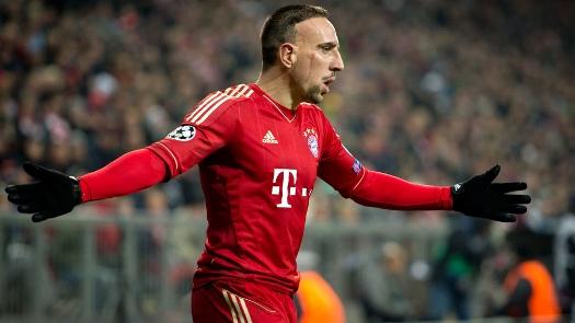 Ribery Comemora gol na Champions de 2013/2014 (Foto: Getty)