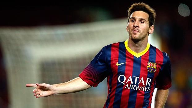 Messi celebra gol que abriu goleada. (Foto: AFP)