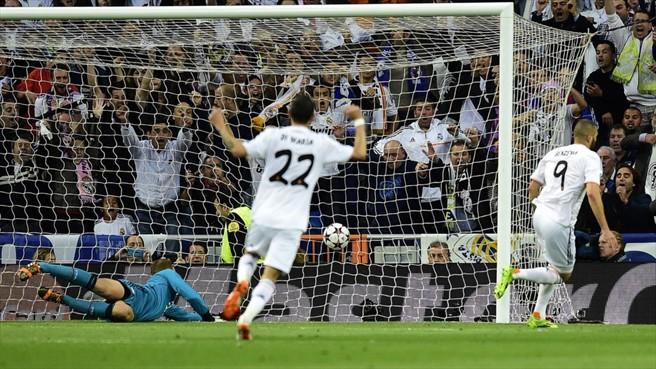 Benzema só empurra bola para a rede, gol madrilenho. (Foto: AFP/Getty)