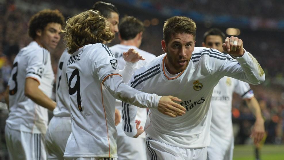Sérgio Ramos comemoral gol de abertura do placar. (Foto: Getty)