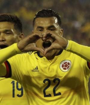 Murillo comemora gol da vitória colombiana. (Foto: Reuters)