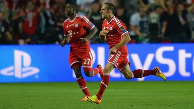 Ribery melhor da Europa fez gol de empate. (Foto: AFP)
