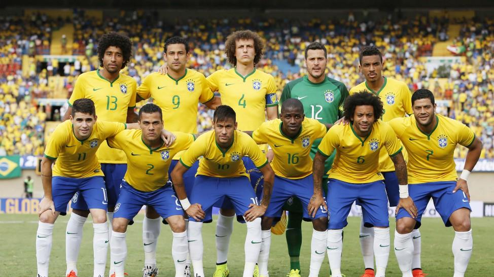 Seleção brasileira faz posse do time que iniciou a partida contra o Panamá. (Foto: Rafael Ribeiro / CBF)