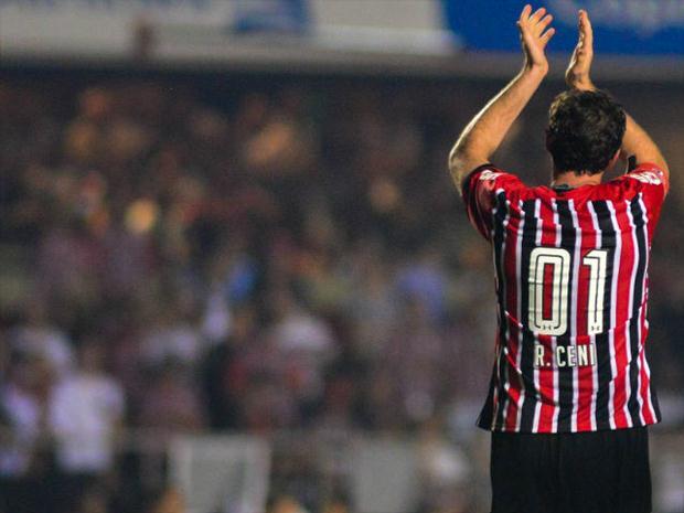 Rogério Ceni agradece a torcida em sua despedida. (Foto: FoxSport)