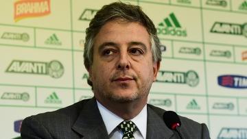 Paulo Nobre Presidente do Palmeiras ao anunciar demissão de Gareca. (Foto: Gazeta Press)