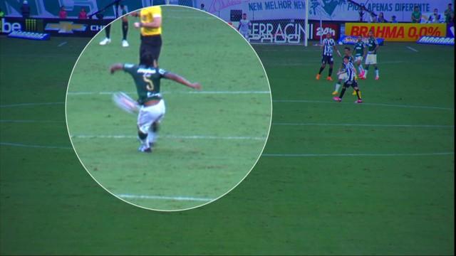 Arouca se lesiona sozinho e pode ficar fora da final na Vila Belmiro. (Foto: Reprodução)