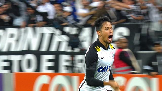 Lucca saiu do banco novamente para fazer o gol da vitória corintiana. (Foto Reprodução)