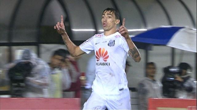 Rildo fez o gol que dava a classificação ao Santos, até Willian desequilibrar. (Foto: Reprodução)
