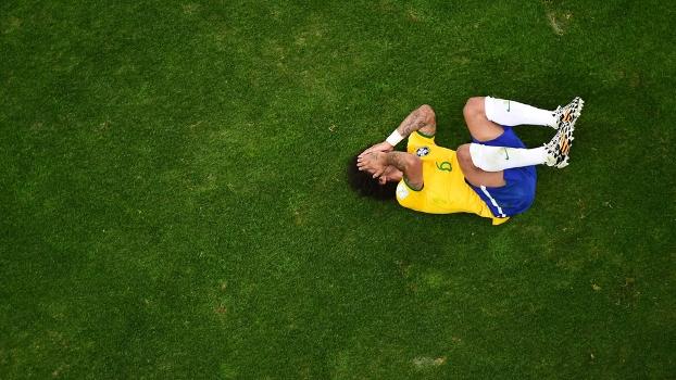 Marcelo inconformado com a derrota vergonhosa do Brasil. (Foto: Getty)