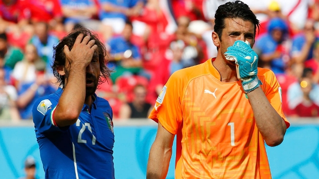 Buffon inconformado com o resultado final da partida. (Foto: Getty)