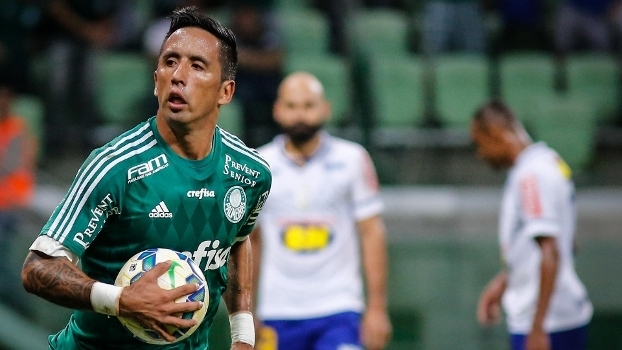 Barrios saiu do banco e deu empate ao Palmeiras.(Foto: Gazeta Press)