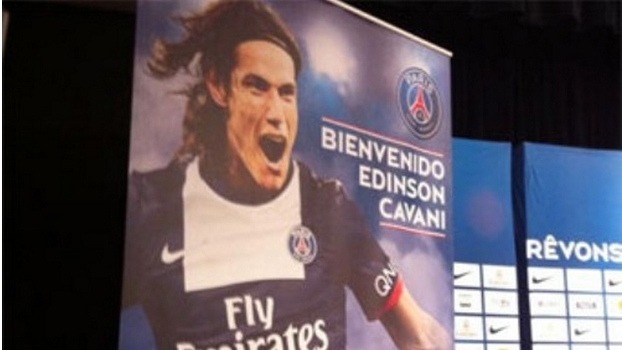 Cavani chega ao PSG extremamente valorizado com contrato de 5 anos. (Foto: Marca.com)