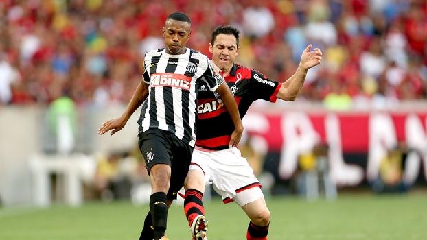 Nem Chicão conseguiu impedir o ímpeto de Robinho no Maracanã.