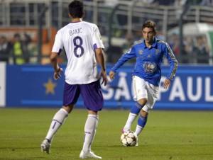 Argentino Augustin Allini em sua estreia pelo Palmeiras. Foto: Alan Morici / Terra