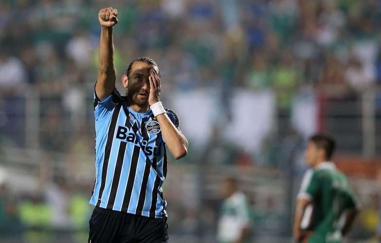 Barcos comemora o gol contra o se ex-clube. Foto: Friedemann Vogel / Getty Images
