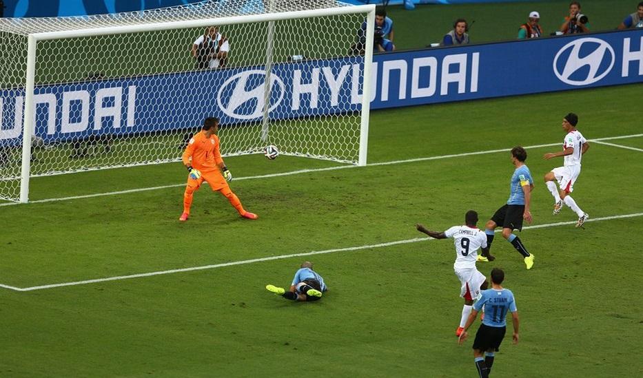 Campbel da Costa Rica empata partida