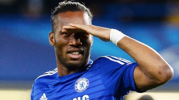 Drogba voltou a marcar com a camisa do Chelsea na vitória sobre o Maribor por 6 a 0. (Foto: Gatty)