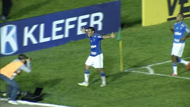 Robinho comemora mais um com a camisa do verdão. (Foto: Reprodução)