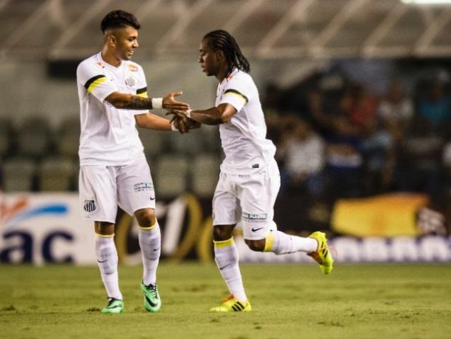 Gabriel e Arouca foram o destaque da goleda santista desta quarta. (Foto: Adriano Vizoni/Folhapress)