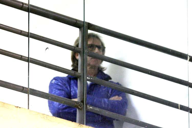 Ricardo Gareca acompanhou a partida na Fonte Luminosa. Foto: Thiago Calil / GazetaPress