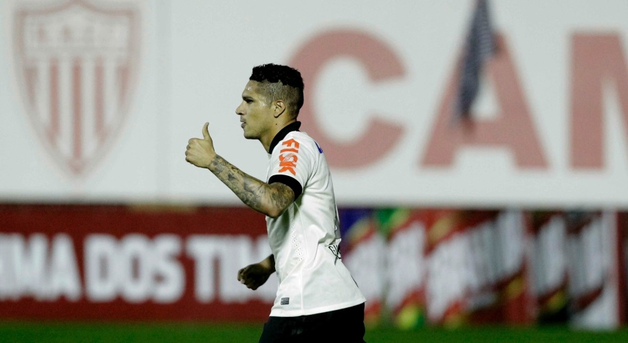 Guerrero marcou o primeiro gol da partida contra o Bahia em Mogi Mirim (Foto:Reinaldo Canato/UOL)