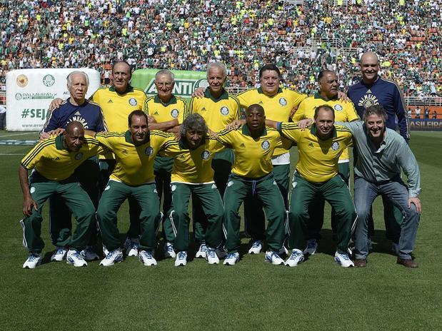 Marcos, Evair, Edmundo e Ademir da Guia estiveram entre os ex-atletas homenageados. Foto: Foto: Ricardo Matsukawa / Terra