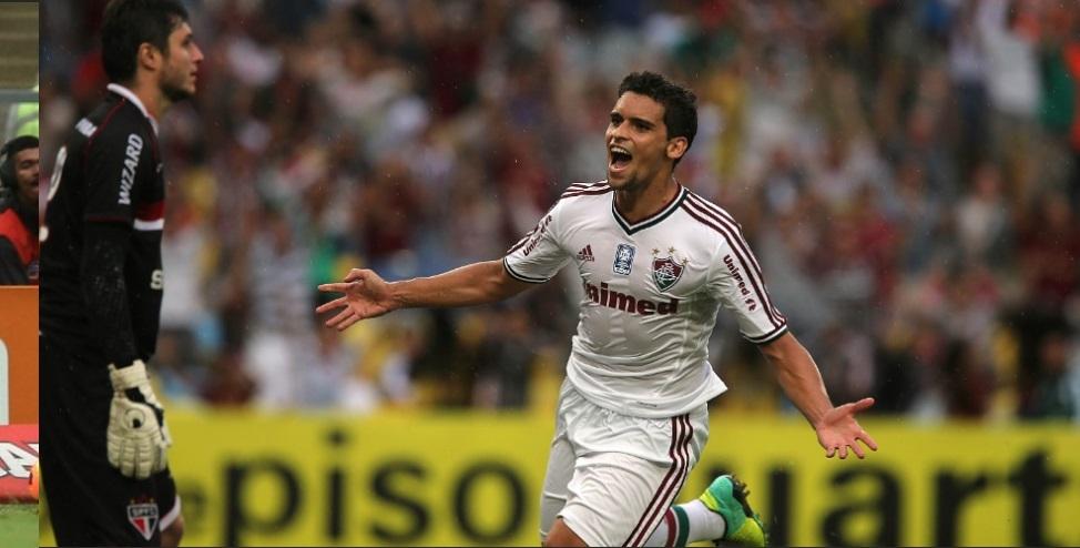 Jean comemora gol de empate. (Foto: Reprodução TV)
