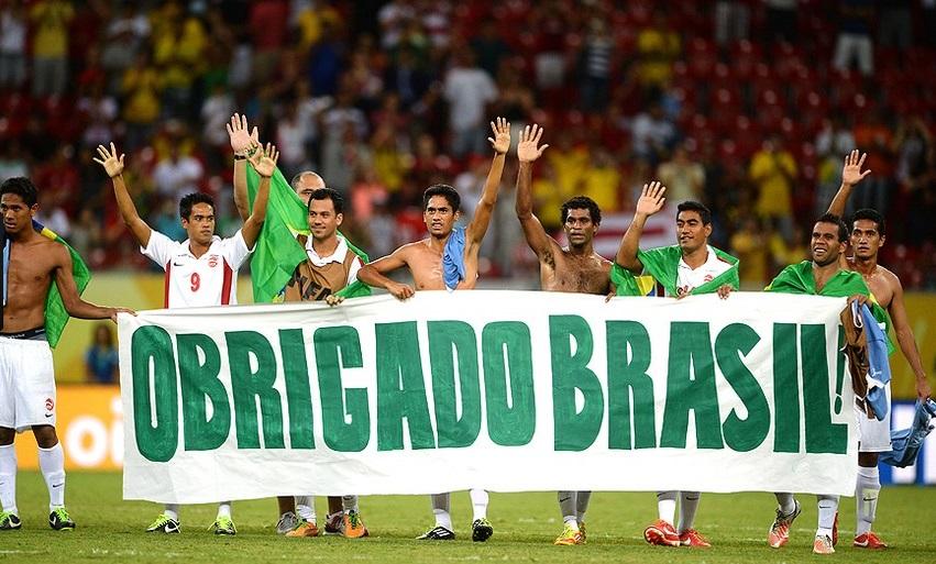 Jogadores do Taiti agradecem o carinho recebido do torcedor brasileiro Getty Images