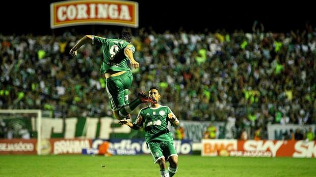Kleber comemora o primeiro gol do verdão em Arapiraca. Foto: Itawi Albuquerque