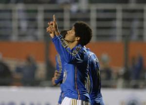 Atacante Leandro também deixou a sua marca. Foto: Alan Morici / Terra