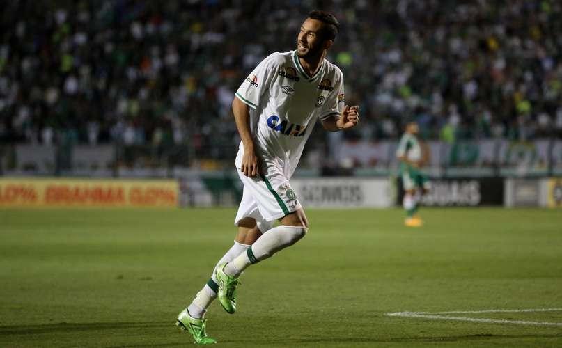 Atacante Leandro marcou os dois gols da Chapecoense. Foto: Friedemann Vogel / Getty Images