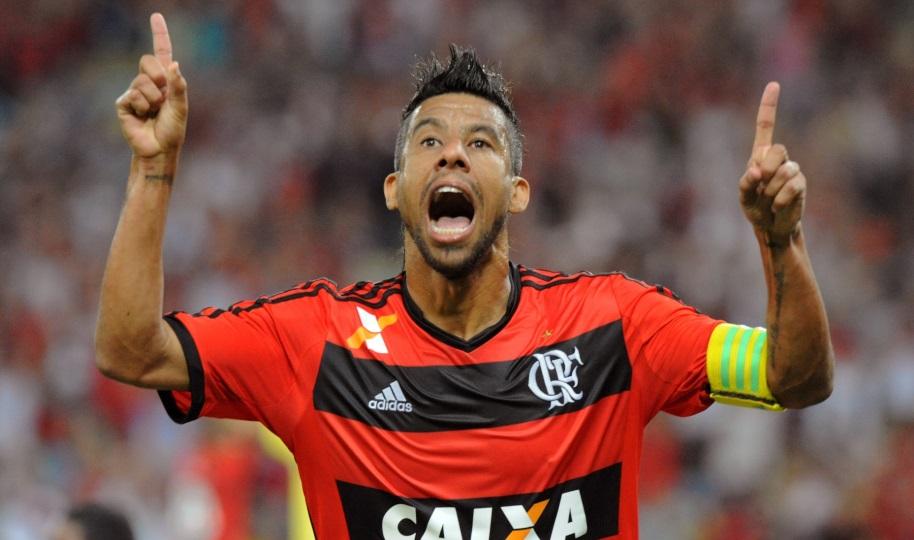 Leo Moura volta a marcar, e Flamengo bate Santos em casa (Foto:Divulgação/Alexandre Vidal/Fla Imagem)