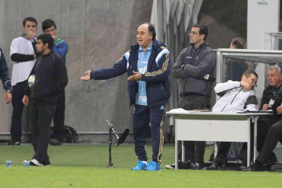 Marcelo Oliveira comandou o verdão pela primeira vez. Foto: Luciano Leon / Raw Image / Gazeta Press