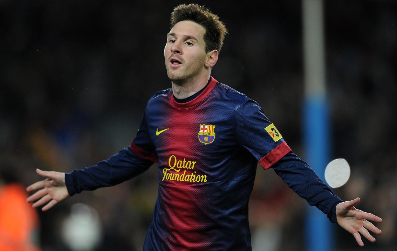 Messi comemora o gol da vitória. Foto: AFP