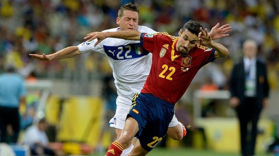 Velocista, Jésus Navas deu traalho para a cansada Itália na prorrogação. Foto: Getty Imagens