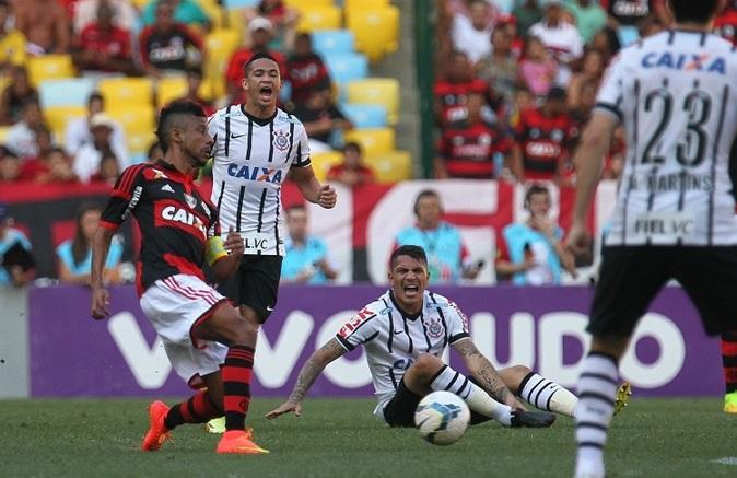 O ataque corinthiano pouco produziu e com isso, amargou mais uma derrota fora de casa. (Foto: Gilvan de Souza / Flamengo)
