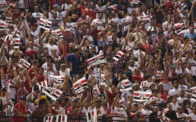 Mais de 43 mil pagantes apoiaram São Paulo e comemoraram gol de Luis Fabiano. (Foto: Rubens Chiri).
