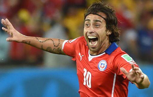 """""""El Mago"""" Valdívia foi um dos personagens do jogo. Foto: William West / AFP"""