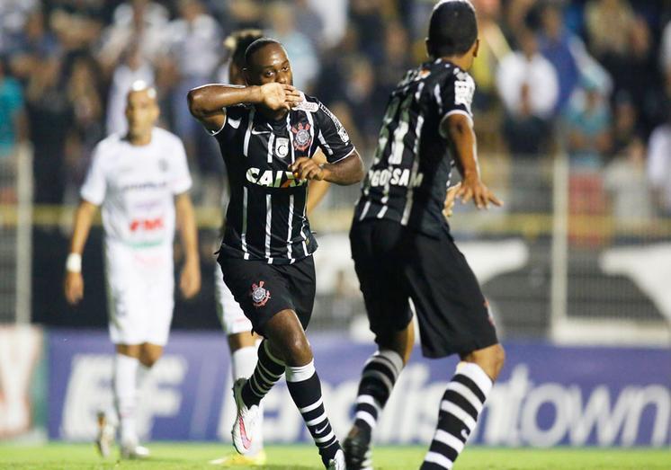 Wagner Love comemora seu gol marcado contra o XV.