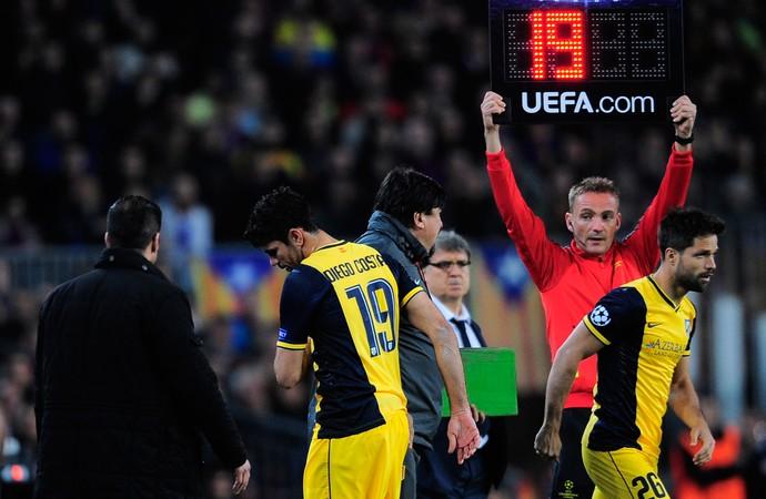 Diego entrou no lugar de Diego Costa e deixou o seu no empate entre os espanhois. (Foto: AP)