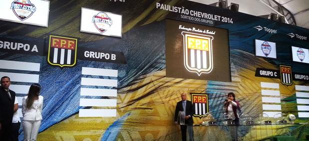 Apresentação do sorteio das chaves do campeonato paulista de 2014. (Foto: Rodrigo Faber)
